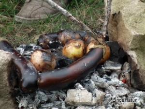 Gepofte aubergine