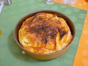 Hartige taart met kaas